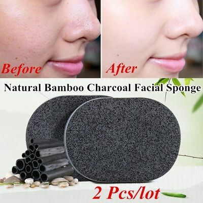 Soft Bamboo Charcoal Sponge Washing PadDeep Cleansing Puff Soft Face-Pads Makeup