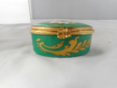 LIMOGES PILL BOX-5.5cms long and 2.5cms high