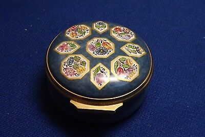 Halcyon Days Enamel Trinket Box 9 Flower Panels From 17th C Necklace Brit.Museum