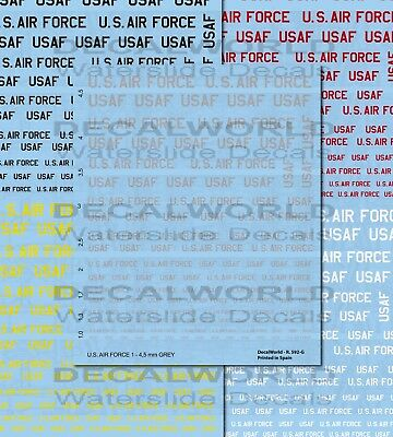 "DECALS U.S. ""AIR FORCE""  1 to 4,5 mm CALCAS"