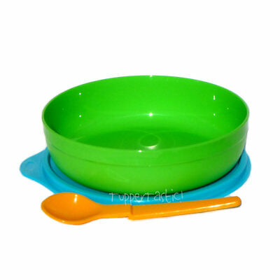 Tupperware NEW Grow With Me Baby Toddler Feeding Bowl with Spoon