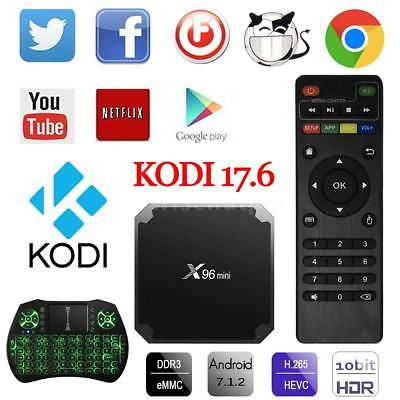 X96 mini 4K S905W Quad Core Android 7.1 TV BOX WiFi 1GB + 8GB KODI 17.6 Media