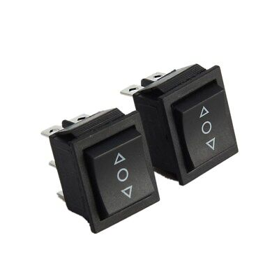 5x 3-Position (ON)-OFF-(ON) Momentary Boat Rocker Switch 6-Pin 16A 250V Car