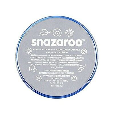 Snazaroo 18ml Face Paint - Light Grey - Colours Fancy Dress Body Paints Up