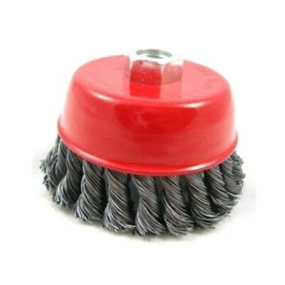 Twist Knot Cup Brush (m14) - 100mm - M14 Wire Wheel Grinder Angle