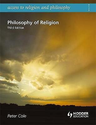 Philosophy of Religion, Cole, Peter