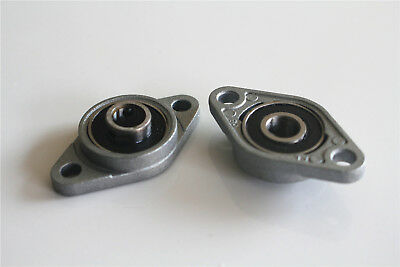 2Pcs 8mm KFL08 Horizontal Mounted Pillow Block Bearing Flange Rhombic Bearings