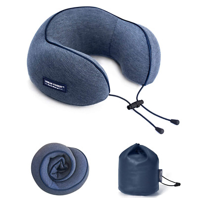 Neck Travel Pillow - Soft Washable Cover and Compact Packsack with Clip NEW HOT