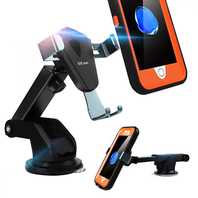 Car Phone Mount,Dashboard & Windshield Holder Strong Sticky Gel Pad, One-Touch