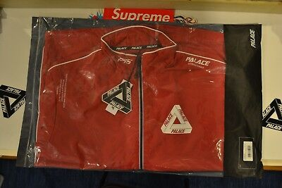 Palace Skateboards FW18 Pipe Down G Suit Jacket Red/White Medium Tracksuit Top