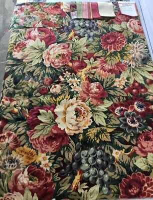 "Vintage Brunschwig Fils Fabric Sample 36"" X 26"" Grasmere Cotton/Linen/Nylon"