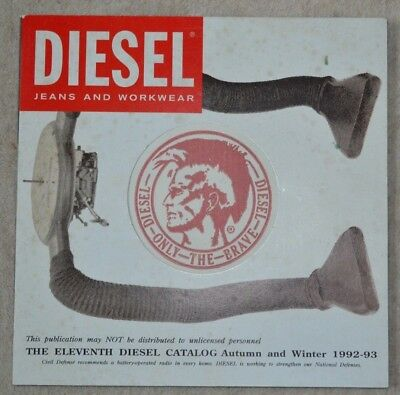 Diesel Catalog -Jeans And Workwear The Eleventh Diesel Autumn And Winter 1992-93