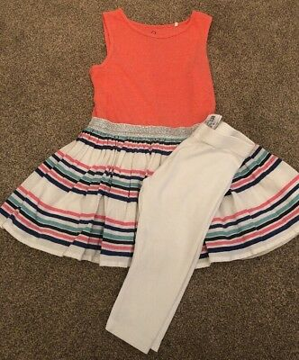 Age 3 Girls Next Dress With Leggings. Sparkle Waist Band