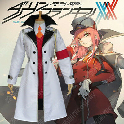 DARLING in the FRANXX ZERO TWO Cosplay Costume Coat Hat Wig Full Set Uniform New