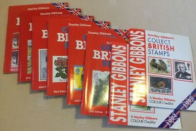 Collection Of Stanley Gibbons 'Collect British Stamps' Catalogues 1988-1995