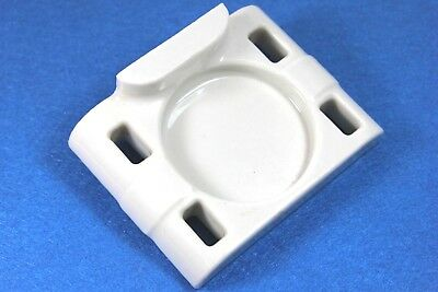 Antique White Porcelain Bathroom FOUR Toothbrush Holder Wall Mount - NICE