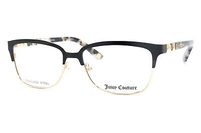 cba677ac4f New Authentic Juicy Couture JU 163 RVM Black Gold Eyeglasses 52-15-135 W