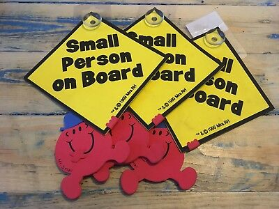 Child Car Sign Small Person on Board Baby Window Mr Men Children Big Ones Safety