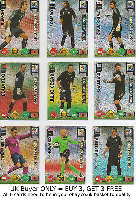 Panini Adrenalyn XL Fifa World Cup 2010 -{select your}- Goal Stoppers Foil cards