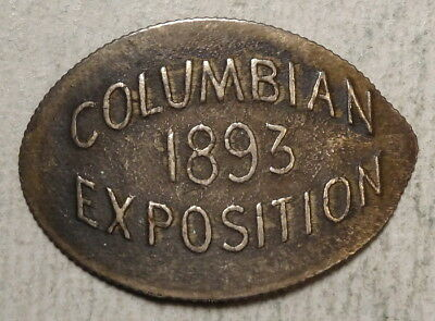 Elongated 1891 Seated Liberty Dime, 1893 Columbian Exposition, Scarce  0709-05