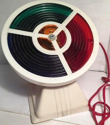 Vintage Color Wheel 4 Rotating COLORS for Mid Century Tinsel Christmas Tree