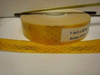 """3M BRAND 1"""" x50'  Roll AMBER - YELLOW  PRISMATIC REFLECTIVE CONSPICUITY TAPE"""