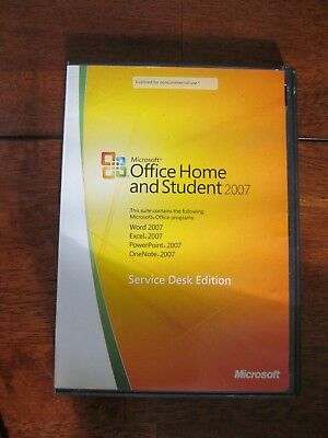 Microsoft Office Home And Student 2007 Service Desk Edition