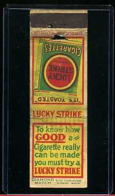 Early Diamond Match Lucky Strike Matchbook Advertising Cover