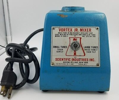 Scientific Industries Vortex JR. Mixer  small large tubes Model K-500-J