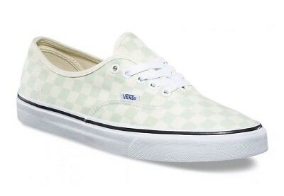 Vans Mens 9.5 Womens 11 Authentic Checkerboard Ambrosia Cream Sneakers Check