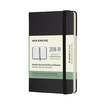 18 month weekly horizontal pkt blk hard cover