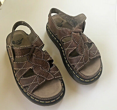 76ca365bf25 Dr. Martens Leather Sandals Air Wair Women s Size 5 Men s Size 4 Brown