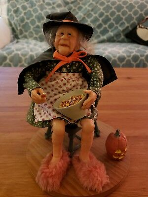 Unique figure of Old Witch Woman with Candy Corn. Very lifelike! Halloween