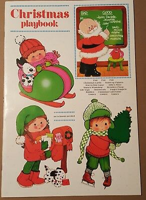 Vintage Christmas Playbook Punch Out Activity Book by Fuld & Co. -VG Condition
