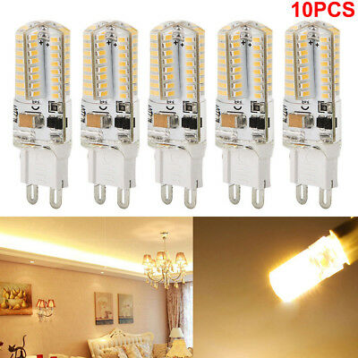 10 Pack LED G9 Warm/Daylight White LED Corn Bulb Lamp Light 120V AC US Sgipping