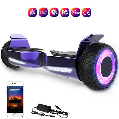 Gyropde 6.5'' Overboard Electrique Scooter Tout Terrain Bluetooth Clignotante