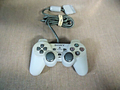 Official OEM Sony PlayStation 1 PS1 Dualshock Controller Grey SCPH-1200 PSOne