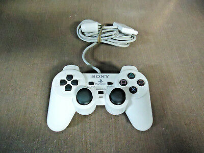 Official OEM Sony PlayStation 1 PS1 Dualshock Controller White SCPH-10010 PSOne