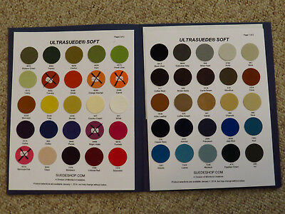 Authentic Ultrasuede(R) Soft Color Chart - Sample Fabric and Color Swatches