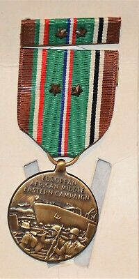 Wwii Usaaf European African Middle Eastern Campaign Medal Ribbon Bar Ww2