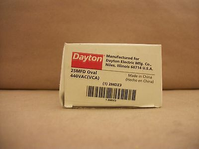 New Dayton 2MDZ3 Run Capacitor, 25 MFD, 440 VAC, Oval