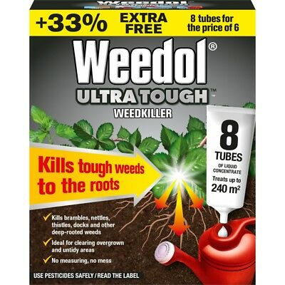 Weedol Ultra Tough Weedkiller, 6 Tubes Plus 2 Free
