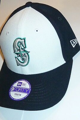New Era 9Forty Seattle Mariners Baseball Cap Hat Navy Youth Cap Adjustable  New 23792e56d19d