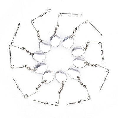 10pcs Stainless Steel Jig Spinner Wire Forms Spinner Accessories Fishing ToolsJR