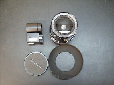 Mamiya 75mm f5.6 lens for press 23 Super, Universal with viewfinder, lens hood