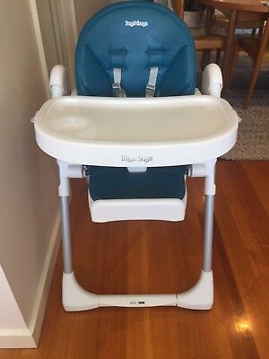 Peg Perego Prima Pappa High Chair Blue (Used)