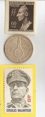 -*WW2 -  SILVER  and  STEEL  - *us   and - *german coin / stamps++