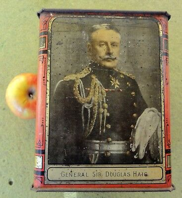 GENERAL'S TEA TIN, General Sir Douglas Haig, About 1lb. WILSON BROS. TIN, MELB.