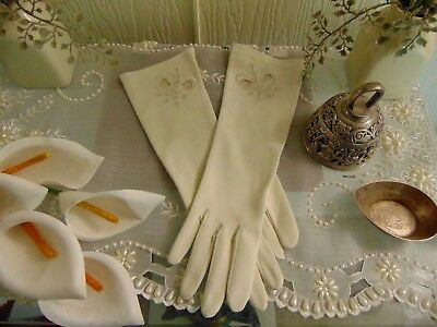 Vintage 1930s sz 7 Gloves Made in West Germany Stunning Glamour 30s