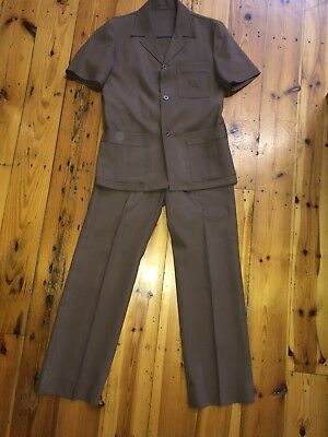 Leisuremaster Genuine Vintage Safari Suit.  Small Mans. 80 Cm Waist